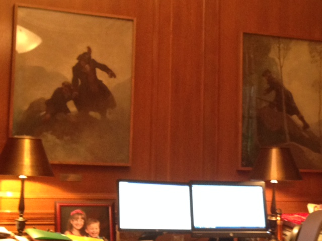 Wyeth paintings in NYPL Director of Research Libraries office
