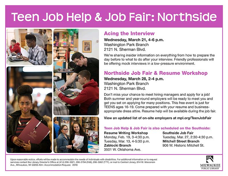 Teen Job Fair For Ages 73