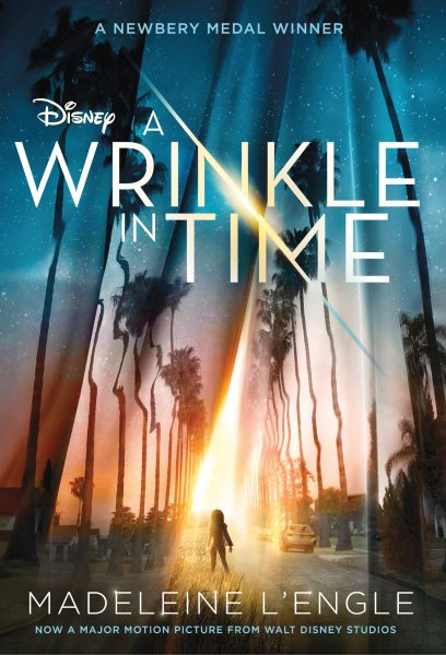 Book cover of movie edition of A Wrinkle in Time